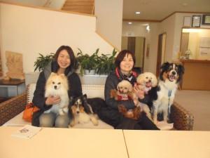 2月22泊新林様テテ、エマ、ランディ、ひゅう、れん